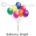 Balloons, Bright Colors