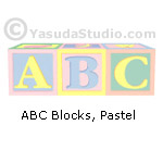 ABC Blocks, pastel