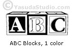 ABC Blocks, B/W
