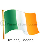 Flag, Ireland - Shaded