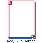 Red and Blue Border