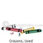 Crayons, Used
