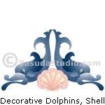 Decorative Dolphins with Shell