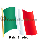 Flag, Italy, Shaded EPS