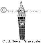 Clock Tower, GrayScale