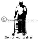 Senior with Walker